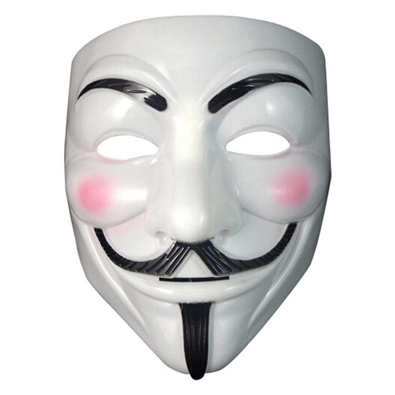 1-10 Guy Fawkes Anonymous Face Masks Hacker V For Vendetta Fancy Dress Wholesale