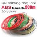 Producto de calidad abs 1,75mm 20 colores filamento de pluma 3d filamento pla filamento abs pluma 3d plástico filamento de impresión 3d plástico abs