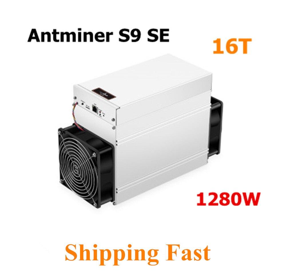 BITMAIN New Asic BTC Miner AntMiner S9 SE 16TH/S Bitcoin BCH Miner Better Than Antminer S9 13.5t 14t S9k S11 S15 S17 T9+ T15 T17