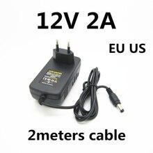 Power-Adapter 2000ma-Charger 2-Meters Led-Strip Volt 12v 2a EU for Cctv-Camera Eu-Us-Plug