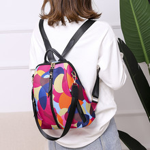 2019 Women Oxford Cloth Wild Fashion Casual Student Bag Travel Backpack Female L0730