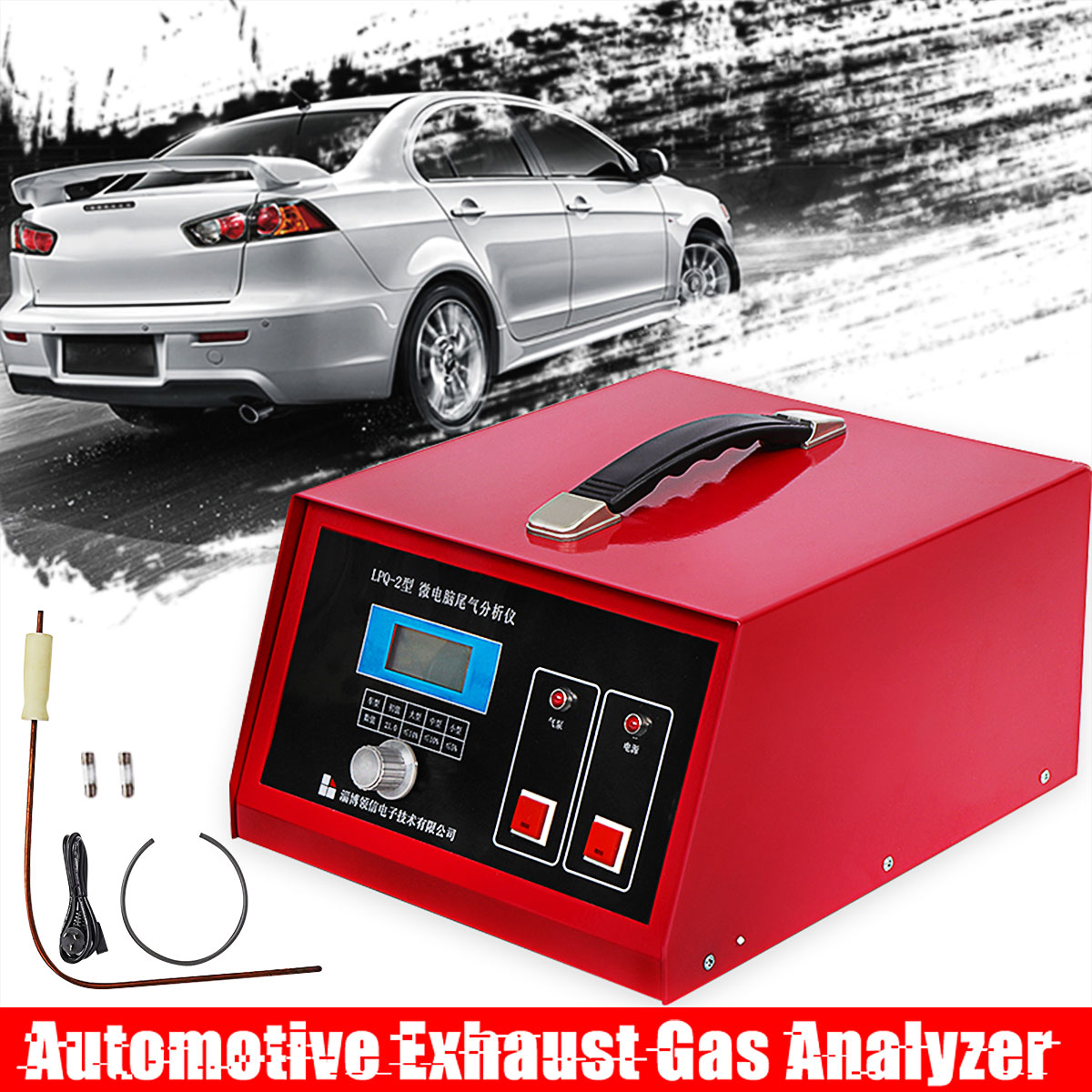 220V Pm2.5 Detector Automotive Vehicle Exhaust Gas Analyzer  Vehicle Emission Gas Analyzer Tail Gas Oxygen Conten Detector