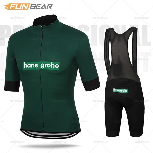 Gorący zestaw koszulek rowerowych Pro Team odzież męska z krótkim rękawem odzież rowerowa Triathlon odzież rowerowa jednolity zestaw Ropa Ciclismo Hombre