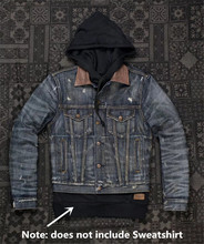 UGLYBROS UBJ 121 Vintage classic denim jacket motorcycle protection jacket motorcycle t shirt for men