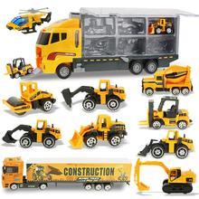 Coolplay 12в1 Мини Сплав Инженерная модель автомобиля трактор игрушка самосвал Модель классическая игрушка автомобиль мини подарок для мальчиков бесплатный подарок