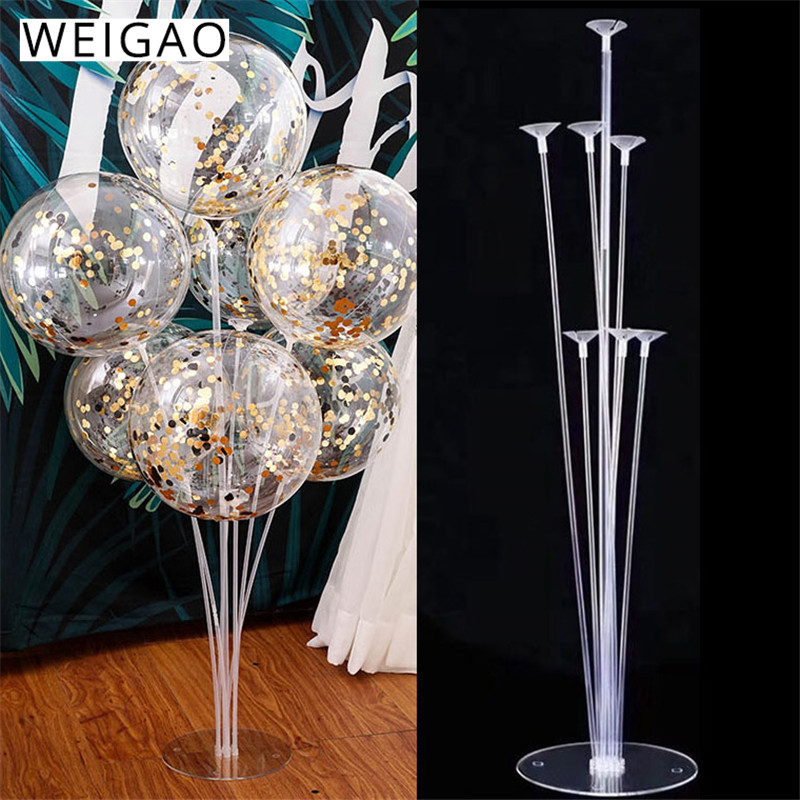 WEIGAO <font><b>7</b></font> <font><b>Tubes</b></font> <font><b>Balloons</b></font> <font><b>Stand</b></font> <font><b>Balloon</b></font> <font><b>Holder</b></font> Column Confetti <font><b>Balloon</b></font> Baby Shower Kids Birthday Party Wedding Decoration Supplies image