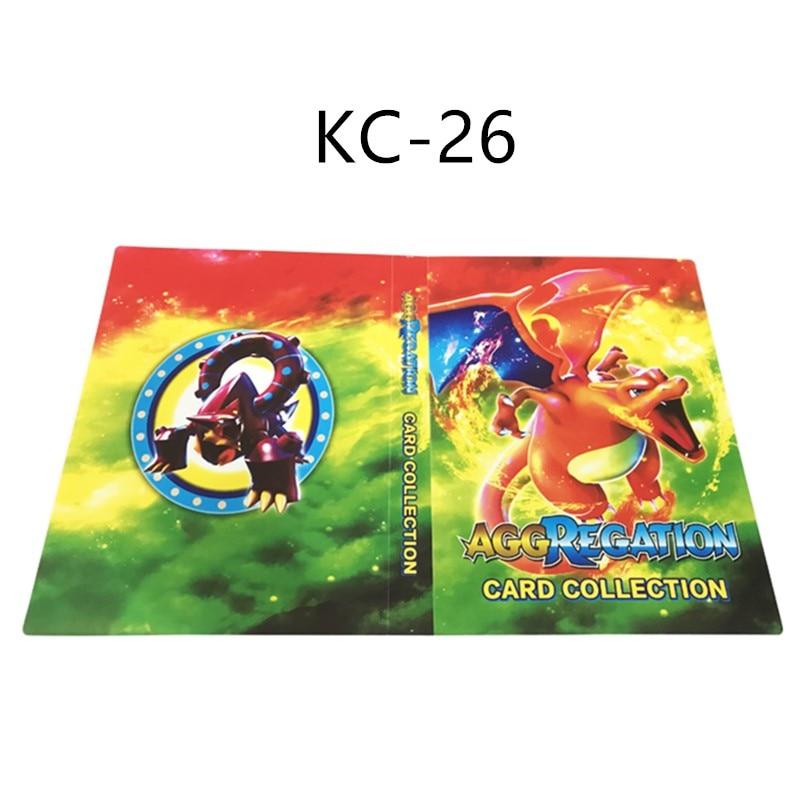 240 шт. держатель Альбом 24 стиля Покемон карты Альбом Книга мультфильм аниме карманный монстр игрушка Пикачу для детей подарок - Цвет: KC-026