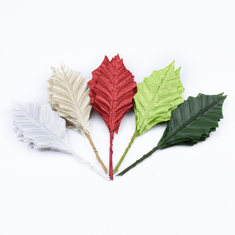 20pcs Artificial Plants Wedding Decorative Flower Wreath Silk Leaves Diy Gifts Box Home Decoration Accessories Scrapbooking Leaf
