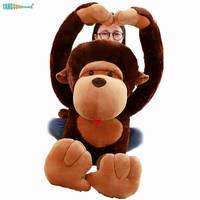 80 110cm Monkey Plush Toys Soft Stuffed Animal Dolls kids Playmate birthday Gift 100% Cotton