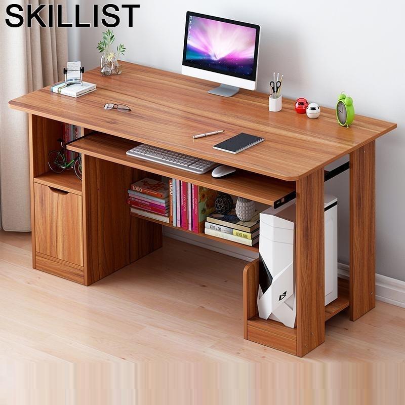 Portable Standing Escritorio De Oficina Para Notebook Lap Tafel Scrivania Mesa Laptop Bedside Desk Computer Table With Bookcase