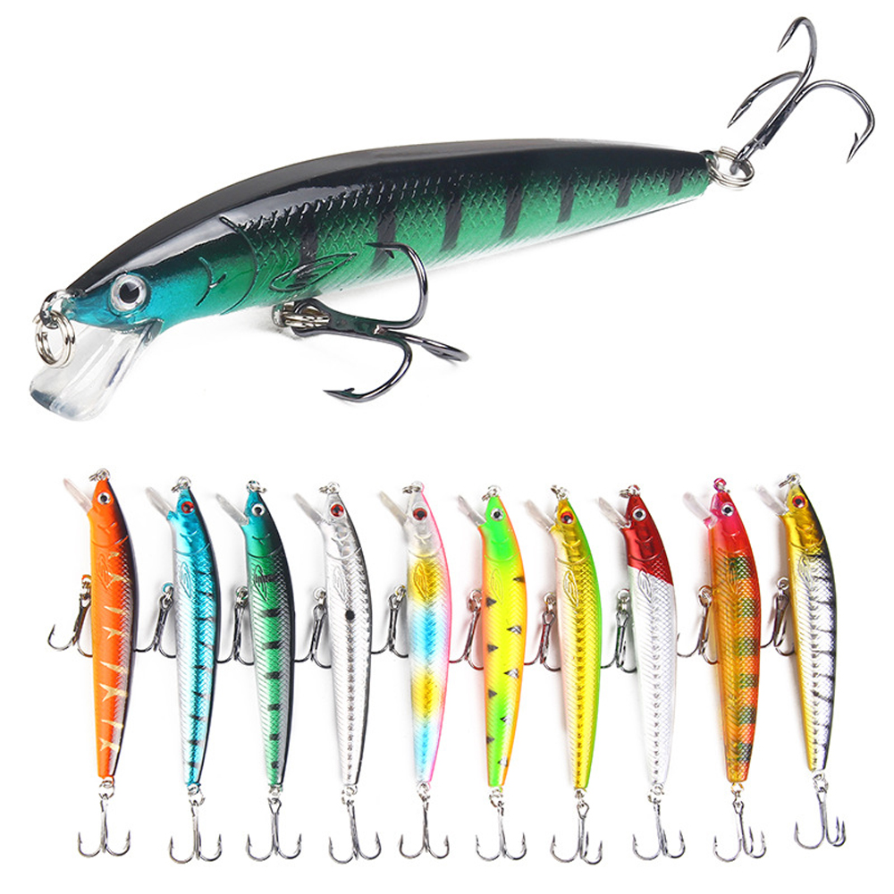 Fishing Lure Walk Fish 10cm 7g Fake bait Floating Artificial Hard Bait Bass wobbler Lures Pike Treble Hooks tackle Tackle Geer