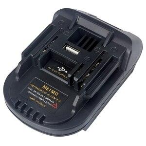 Image 2 - New 20V Per 18V Batteria di Conversione Dm18M Batterie Li Ion Charger Adapter Strumento Per Milwaukee Makita Bl1830 Bl1850