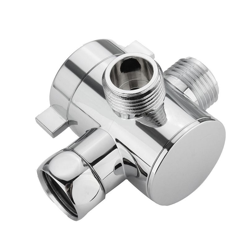 1/2 Inch 3-Way T-adapter Diverter Valve Adjustable Shower Head Arm Mounted Diverter Valve Bathroom Hardware Accessory