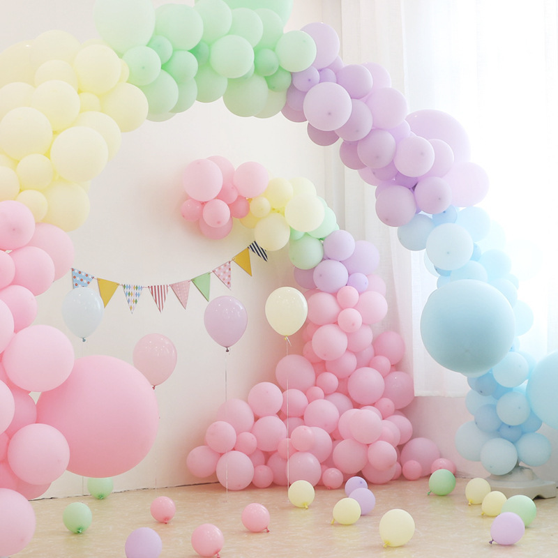 50pcs 10inch/12 inch macarons white pink pastel candy latex balloons for wedding decoration baby shower decor air helium globos