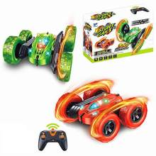 RC Car Stunt Car High Speed Tumbling Crawler Vehicle Double Sided Rotating 360 Degree Flips Gift For Kids Adults(China)