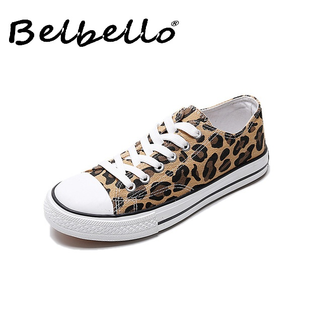 New Leopard Canvas Shoes Casual Trend Men's Shoes Wild Student Cloth Shoes