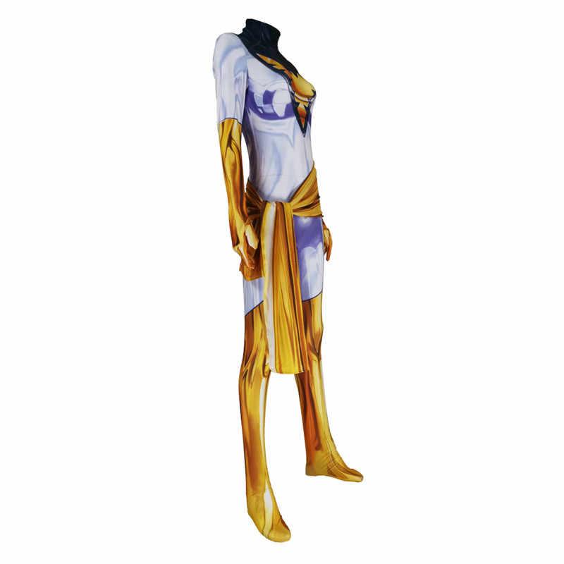 X-الرجال تأثيري زي فينيكس جان رمادي ليكرا دنة سوبر أبطال ارتداءها دعوى Zentai حللا هالوين للأطفال النساء الكبار