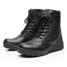 Outdoor Mannen Woestijn Tactische Militaire Laarzen Heren Werk Safty Schoenen SWAT Leger Boot Enkel Lace-up Combat Sport Laarzen(China)