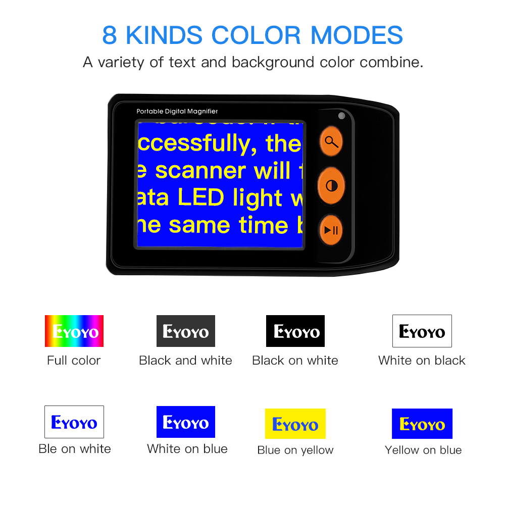 Tools : Eyoyo Portable Digital Magnifier Reading Aid 3 5 Inch LCD Screen for Low Vision 2x-25x Zoom Foldable video electronic magnifier
