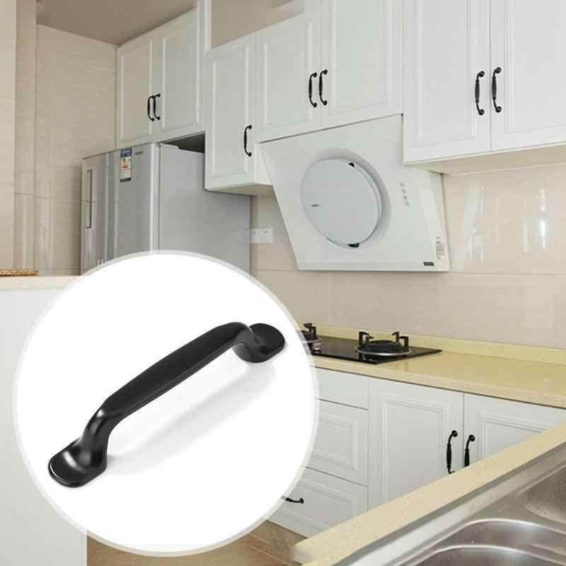 Poignée d'armoire noire en alliage de Zinc porte de cuisine sans formaldéhyde tire des boutons de tiroir sans métal lourd