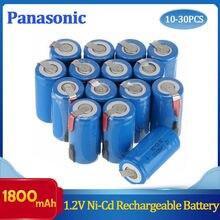 10-30 baterias recarregáveis nicd da bateria do sc 1800mah 1.2v dos pces para makita bosch b & d hitachi metabo dewalt para ferramentas elétricas