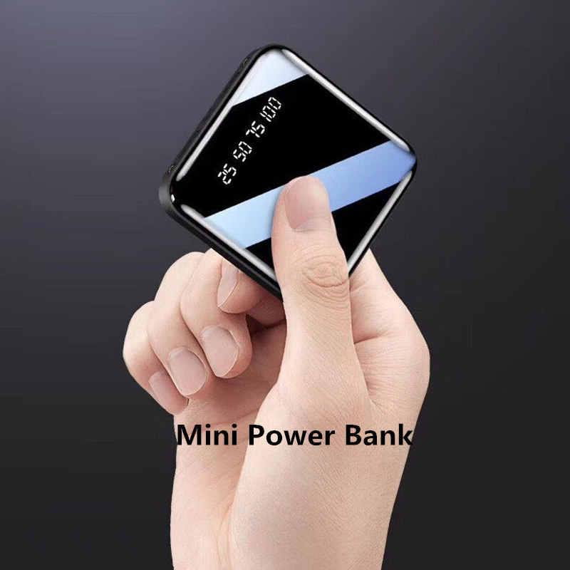 باور بانك صغير ل xiaomi فون رقيقة جدا Pover البنك 30000mAh LED عرض تجدد Powerbank بطارية خارجية Poverbank سريع شحن