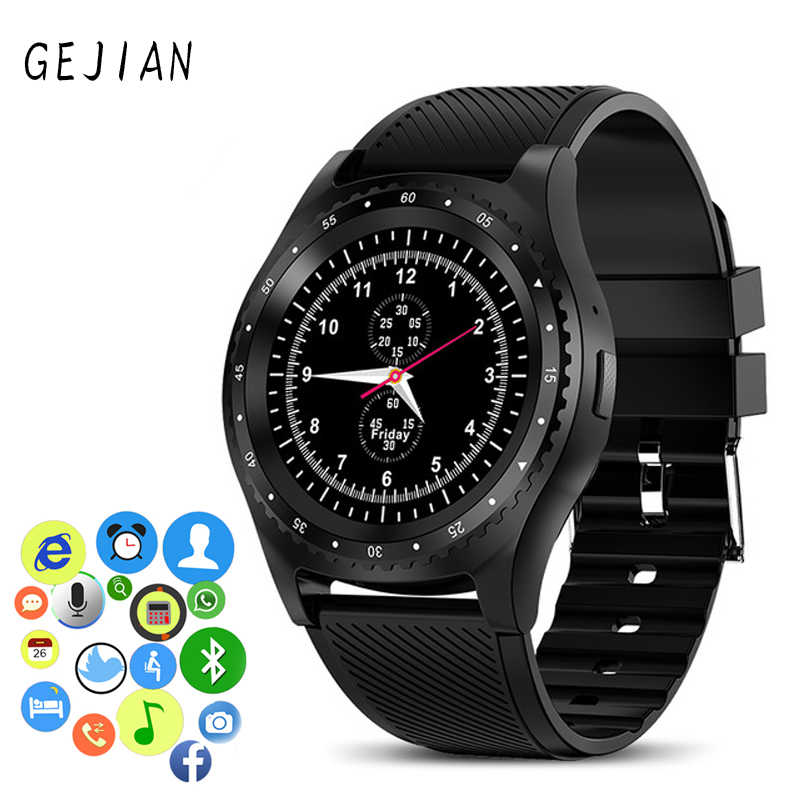 GEJIAN New Smart Watches Men Women Touch Screen Bluetooth Waterproof Sport Smartwatch Fitness Monitor With SIM Card Support