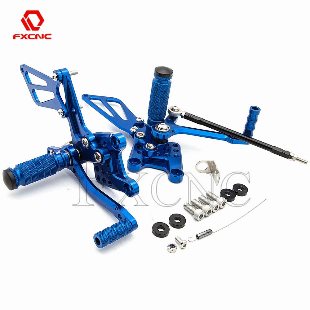 CNC алюминиевый регулируемый задний набор для мотоцикла, подножки, педаль для ног для SUZUKI SV650 SV650S SV1000/s GSXR 600 750 1000