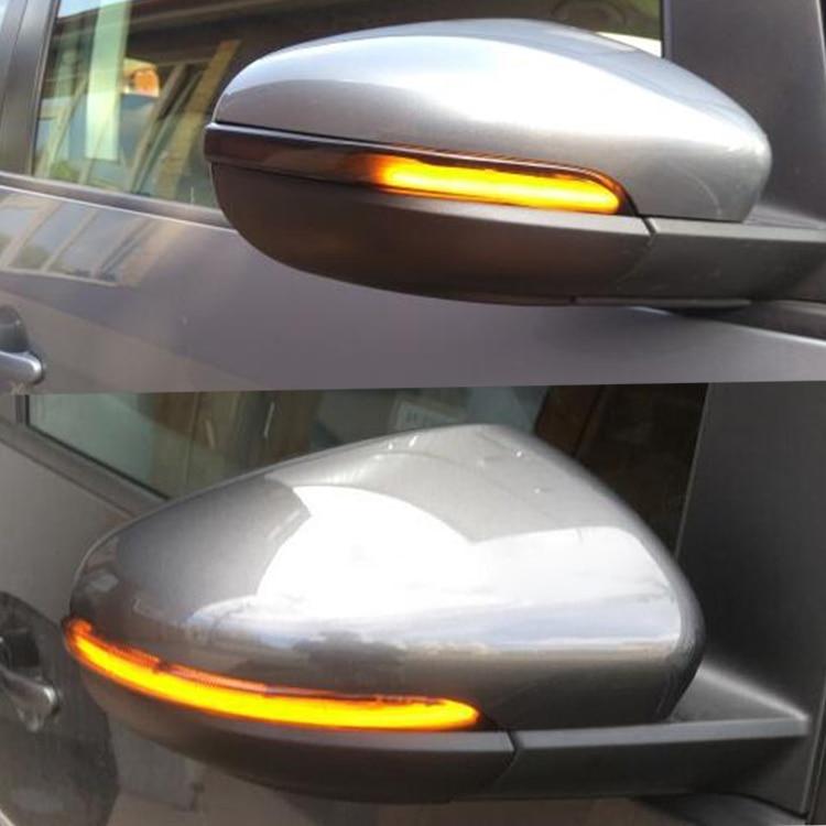 2PCS Dynamic Led Turn Signal Light Mirror Indicator For VW Golf Mk6 Gti 6 Vi R20 Touran Lamp