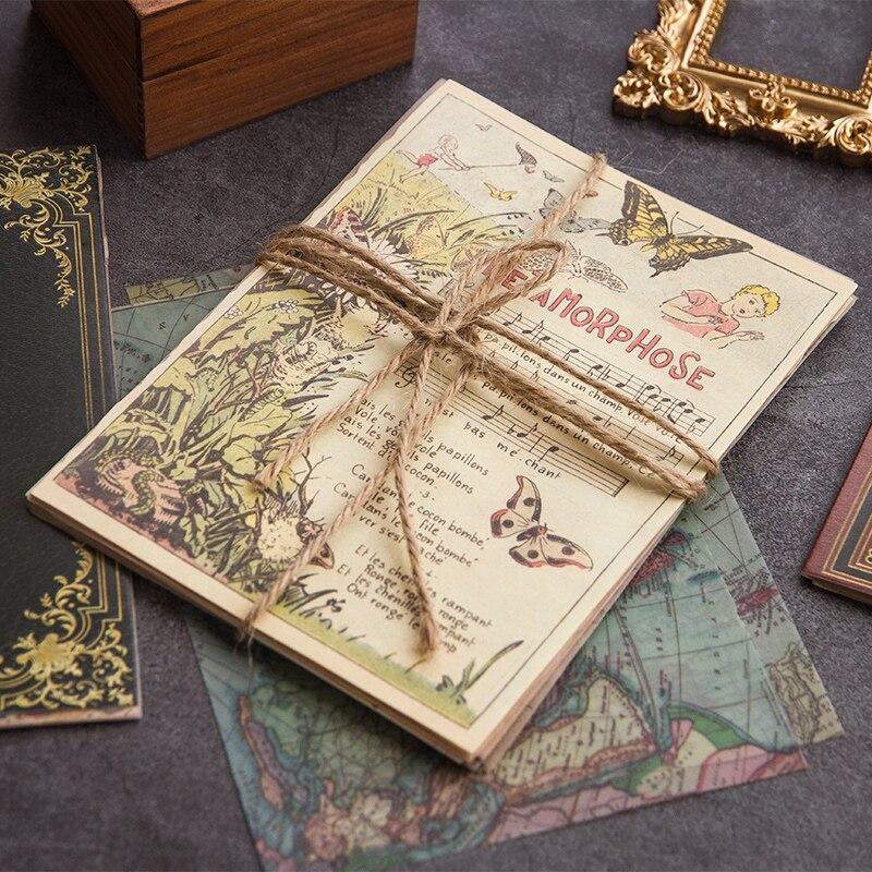 10 blätter Medieval Vintage von bücher Material Papier Junk Journal Planer Scrapbooking Retro Dekorative DIY Handwerk Hintergrund Papier