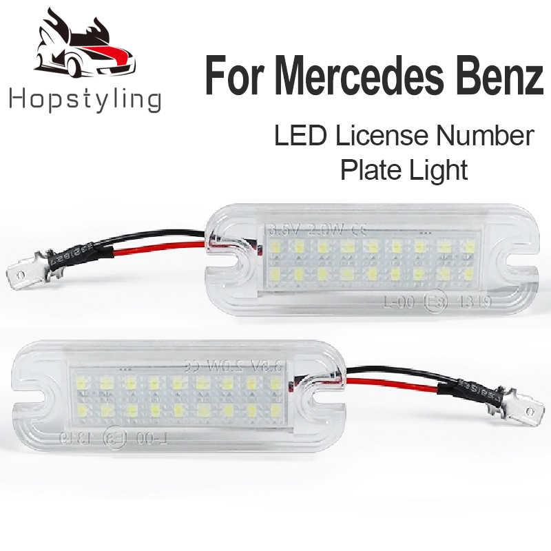 2 pièces voiture plaque d'immatriculation LED lumières pour Mercedes Benz W463 plaque d'immatriculation lampe g-class G500 G550 G55 G63 G65 AMG Auto accessoires