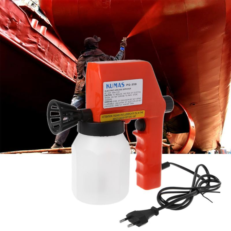 600ml Large Capacity Electric Paint Sprayer Hand Held Spray Gun Airless Painter For House Painting 220V EU Plug