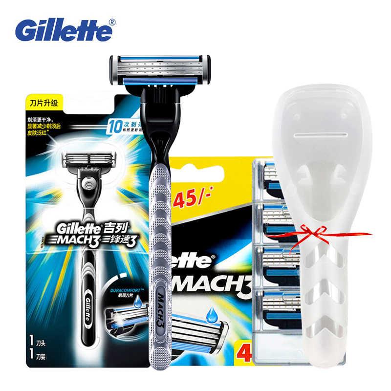 Gillette Mach3 Shaving Razor Blade For Men Face Replace Sharp Shaver Razor Safety Mach 3 Cassette Shaving Blade Refill GIFT
