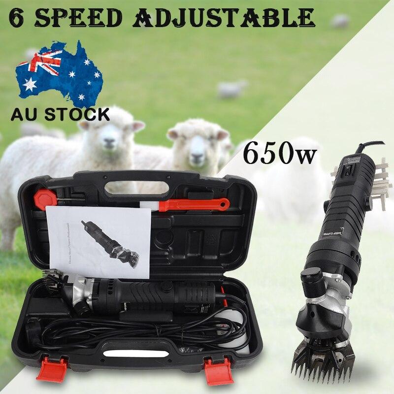 650W 6 vitesse réglable électrique mouton chèvre cisaille Machine Clipper ferme cisailles coupe laine ciseaux coupe Machine avec boîte