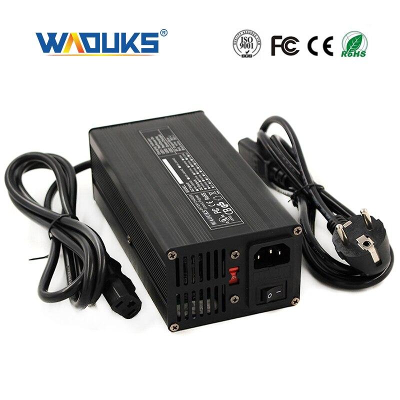 54.6V 6A akumulator litowo jonowy ładowarka do 13S 48V Lipo/LiMn2O4/LiCoO2 baterii szybkie ładowanie w pełni automatyczne powłoka aluminiowa w Ładowarki od Elektronika użytkowa na AliExpress - 11.11_Double 11Singles' Day 1