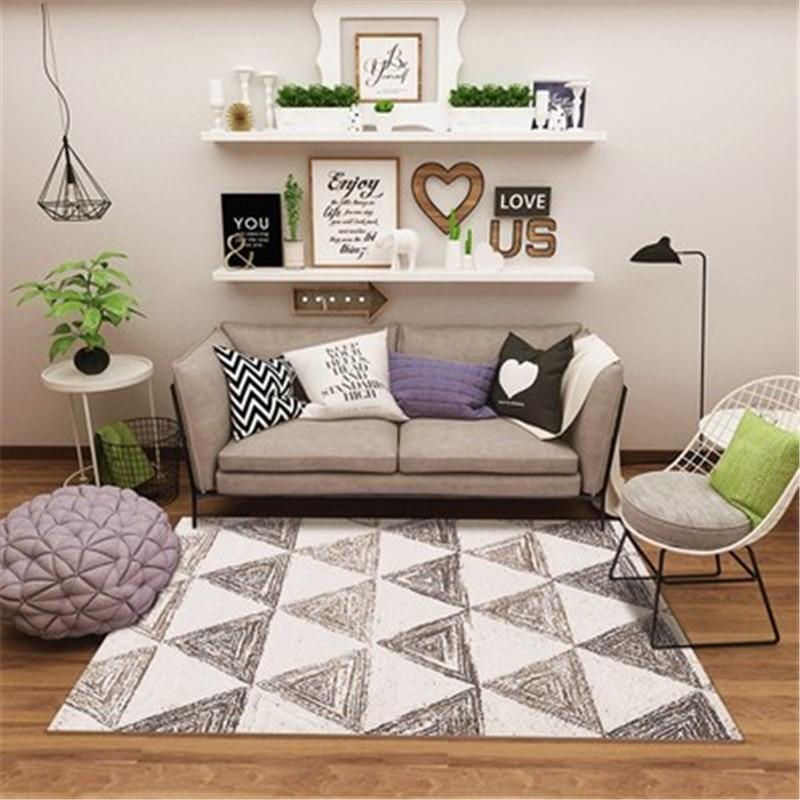 Lavable Durable multi-fonction tapis pour chambre glands abstrait Plaid doux tapis bohème touffetage fait main tapis CF