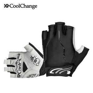 Image 2 - CoolChange летние мужские и женские мужские перчатки для велоспорта с полупальцами эластичные дышащие велосипедные перчатки с гелевой пропиткой дорожные горные велосипедные перчатки для MTB