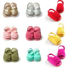 WEIXINBUY Baby Girl Sandals Summer Baby Shoes Casual Fashion Baby Girl Shoes Sandals For Girls PU Fringed Baby Sandals 9 Colors