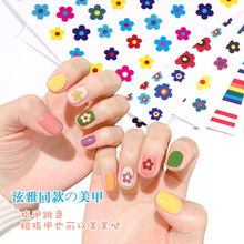 3D embossed nail sticker flower adhesive DIY manicure slider nail art tips decorations decals 1pcs 3d nail sticker colorful glitter flower geometry new slider for manicure decoration tips nail art adhesive decals