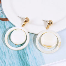 2019 Sale Stainless Steel Vintage Oorbellen Earings New Korean Round Natural Shell Earrings For Bohemian(China)