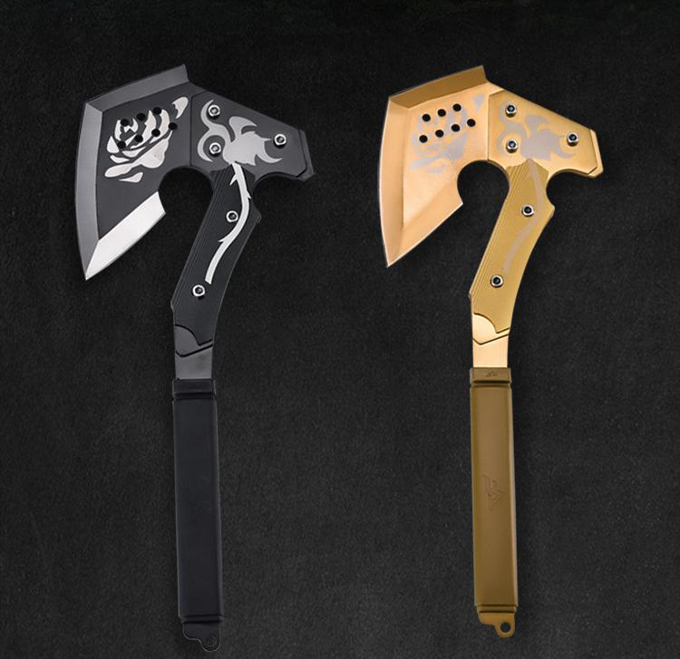 New Rose-shape Axe Tactical Axe Tomahawk Army Outdoor Hunting Camping Survival Machete <font><b>Axes</b></font> Hand <font><b>Tools</b></font> Fire Axe Hatchet Ice Axe image