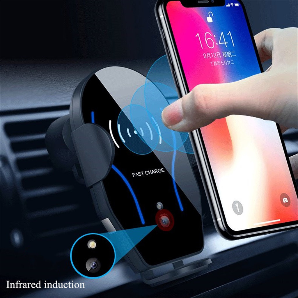 Fast Charging Vehicle Mobile Phone Support Mobile Phone 10W for Infrared Wireless Induction Charging of Vehicles Supports