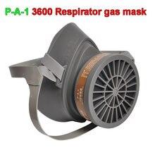 Masque à gaz respirateur 3600, filtre à charbon actif, masque de sécurité industriel pour le soudage par pulvérisation de peinture