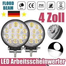 4 дюйма 42 Вт светодиодный рабочий светильник бар наводнения