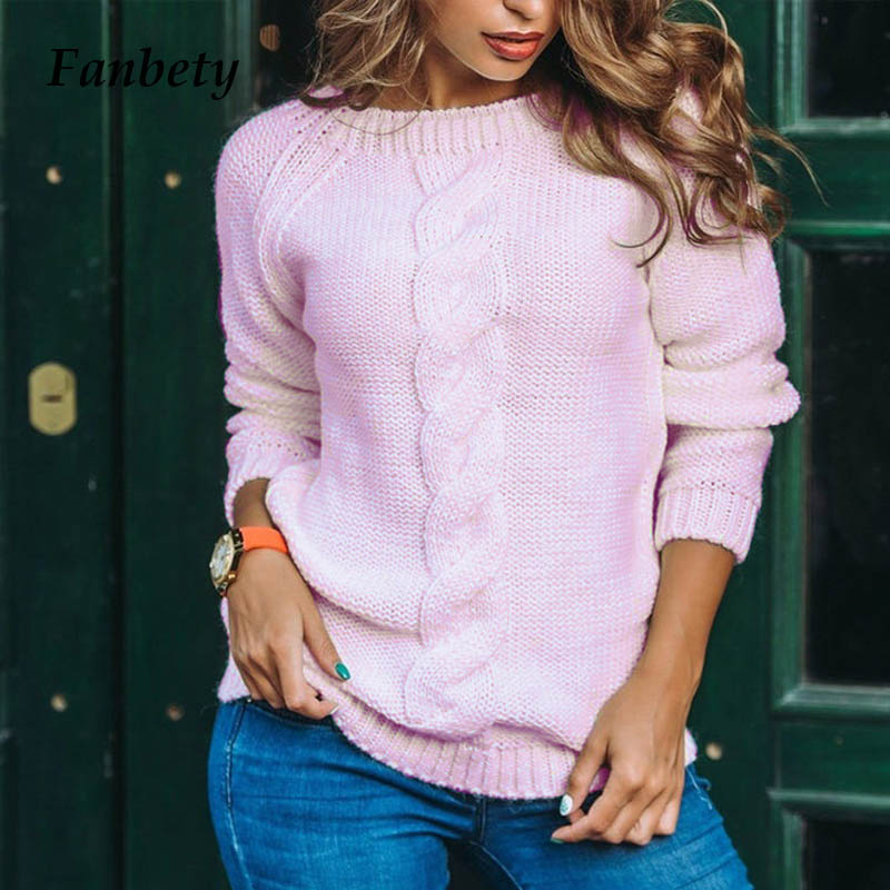 Fanbety Winter Warm Sweater Women Autumn Long Sleeve Knitted Sweaters Lady Sexy Back Hollow Out Pullover O Neck Solid Kintwear