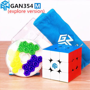 Image 5 - Gan 354 M Magnetic puzzle magic speed Gan cube 3x3 sticker less professional Gan354 M magnets cube GAN354M toys for kid