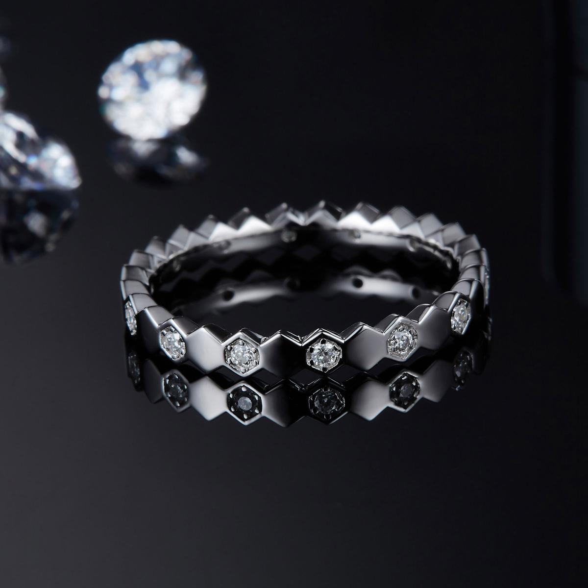 Moissanite Diamond Wedding Rings  -  1mrk.com