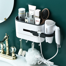 Wall mounted Bathroom Rack Shampoo Cosmetic Shower Rack Hairdryer Storage Rack Space Household Items Bathroom Accessories