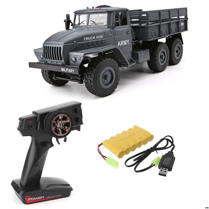 RC Truck 1: 12 Simulation Full-size 6 Wheel Drive Soviet Ural Truck Model Off-road Remote Control Car