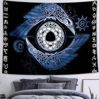 Simsant Mushroom Forest Castle Tapestry Fairytale Trippy Colorful Butterfly Wall Hanging Tapestry for Home Dorm Fantasy Decor 25